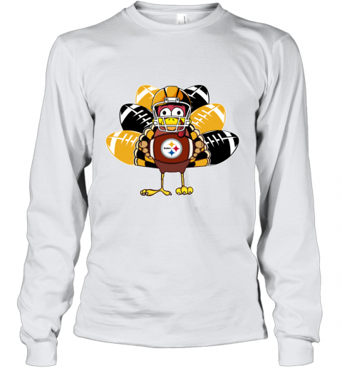 Pittsburg Steelers Thanksgiving Turkey Football NFL Youth Long Sleeve