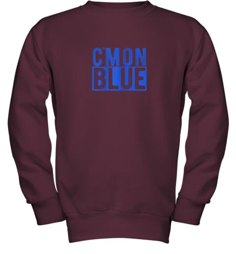 5774 cmon blue umpire baseball fan graphic lover gift youth sweatshirt 47 front maroon