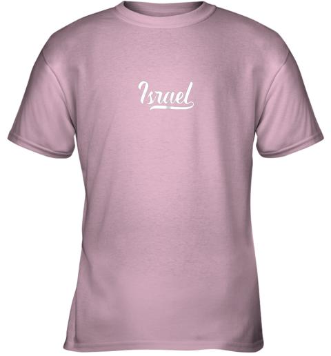 jv2n israel baseball national team fan cool jewish sport youth t shirt 26 front light pink