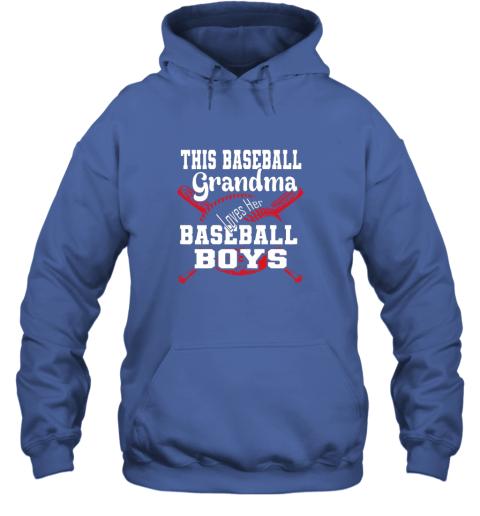 k72m this baseball grandma loves her baseball boys hoodie 23 front royal