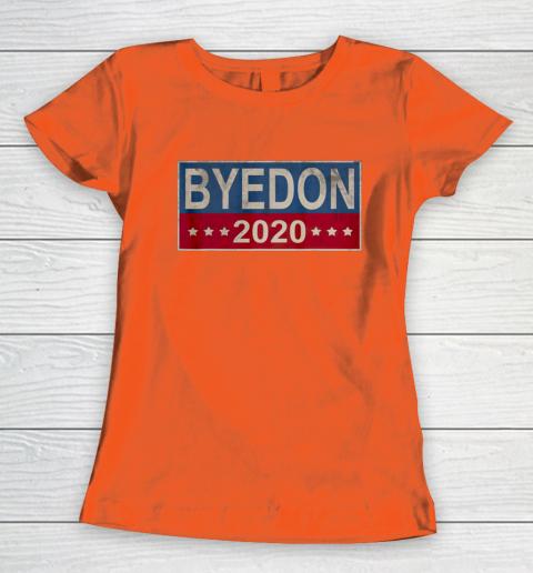 Bye Don 2020 ByeDon Button Joe Biden Funny Anti Trump Women's T-Shirt 2
