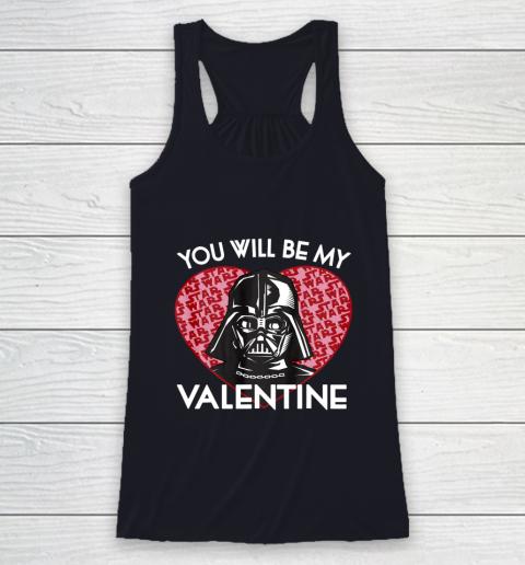 Star Wars You Will Be My Valentine Darth Vader Racerback Tank 7