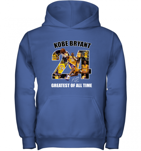 Kobe Bryant Greatest Of All Time Number 24 Signature Youth Hoodie
