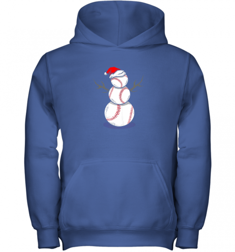 73m4 christmas in july summer baseball snowman party shirt gift youth hoodie 43 front royal