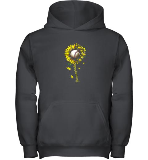 You Are My Sunshine Sunflower Baseball Youth Hoodie