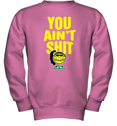 my6r bayley you aint shit its bayley bitch wwe shirts youth sweatshirt 47 front safety pink
