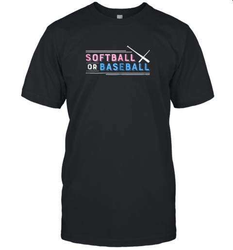 Softball or Baseball Shirt, Sports Gender Reveal Unisex Jersey Tee