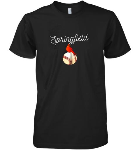 Springfield Red Cardinal Shirt For Baseball Lovers Premium Men's T-Shirt