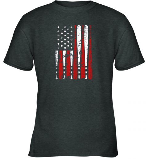 k68p vintage baseball bat american usa flag gift youth t shirt 26 front dark heather