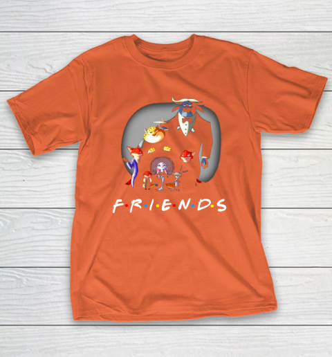 Zootopia characters F.r.i.e.n.d.s T-Shirt 4
