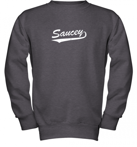afbh saucey swag baseball youth sweatshirt 47 front dark heather