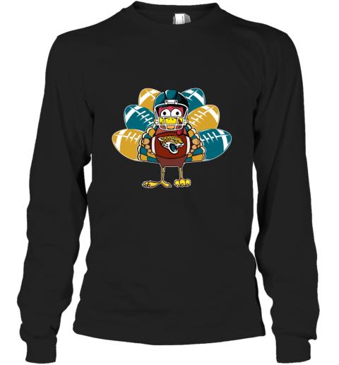 Jacksonville Jaguars  Thanksgiving Turkey Football NFL Long Sleeve T-Shirt