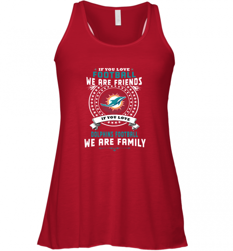 p2mq love football we are friends love dolphins we are family shirts flowy tank 32 front red