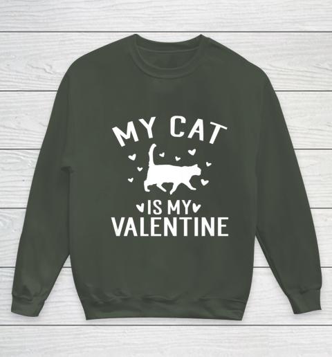 My Cat is My Valentine T Shirt Anti Valentines Day Youth Sweatshirt 8
