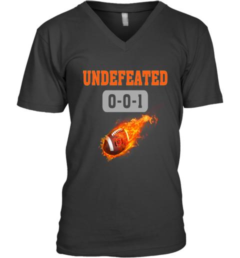 NFL CINCINNATI BENGALS LOGO Undefeated V-Neck T-Shirt