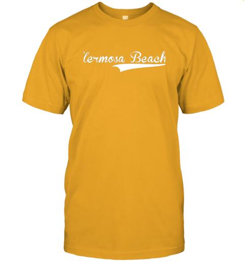 p1qo hermosa beach baseball softball styled jersey t shirt 60 front gold