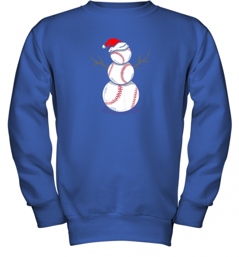 zk4w christmas in july summer baseball snowman party shirt gift youth sweatshirt 47 front royal
