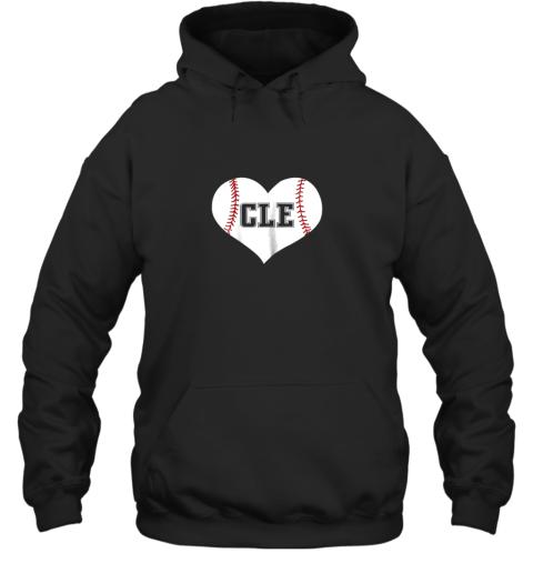 Cleveland Ohio Baseball Love Heart CLE Gift Jersey Fan Hoodie