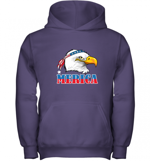 Eagle Mullet 4th Of July American Flag Merica USA Youth Hoodie