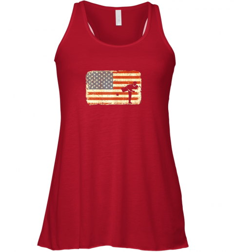 3co3 vintage baseball pitcher shirt american flag flowy tank 32 front red