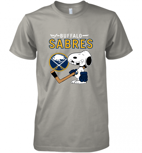 zjqi buffalo sabres ice hockey broken teeth snoopy nhl premium guys tee 5 front light grey