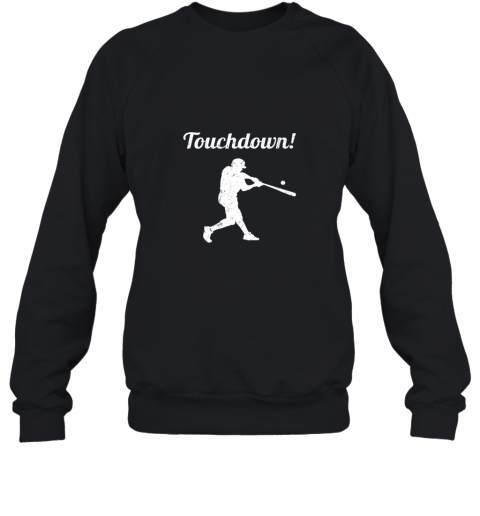 zmw1 touchdown funny baseball sweatshirt 35 front black