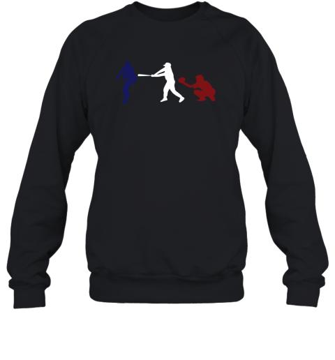 Baseball USA Flag American Tradition Spirit Sweatshirt