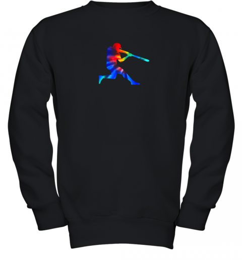 Tie Dye Baseball Batter Shirt Retro Player Coach Boys Gifts Youth Sweatshirt