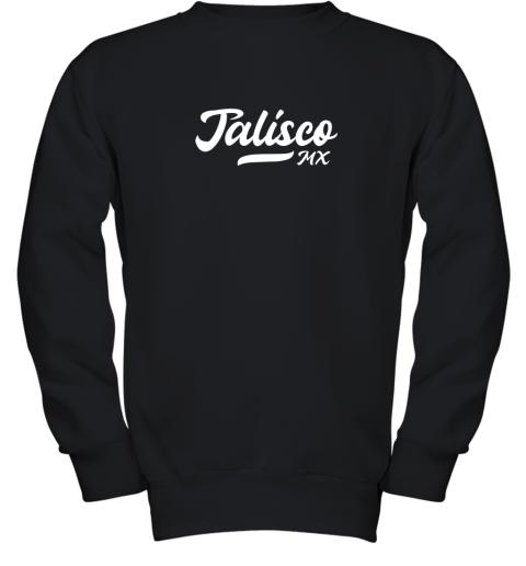 Tighe's Jalisco MX Mexico Baseball Jersey Style Youth Sweatshirt