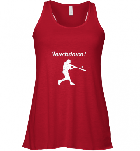 xt2c touchdown funny baseball flowy tank 32 front red