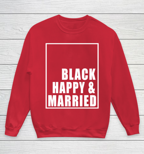 Black Happy And Married Youth Sweatshirt 7