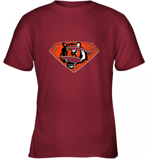 qu5h we are undefeatable the cincinnati bengals x superman nfl youth t shirt 26 front cardinal