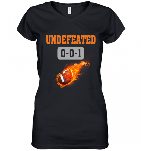 NFL CLEVELAND BROWNS LOGO Undefeated Women's V-Neck T-Shirt
