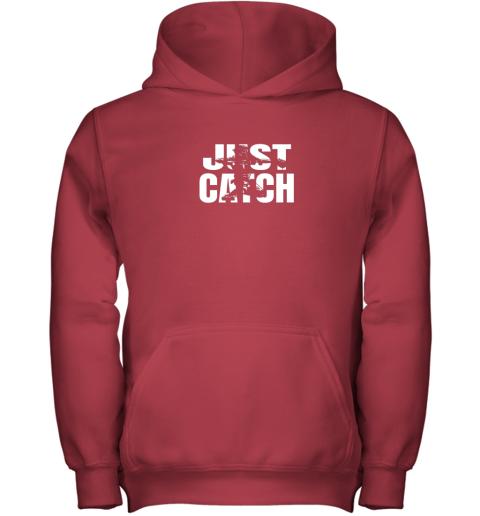pqr4 just catch baseball catchers gear shirt baseballin gift youth hoodie 43 front red