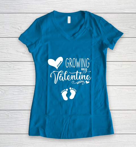 Growing my Valentine Tshirt for Wife Women's V-Neck T-Shirt 5