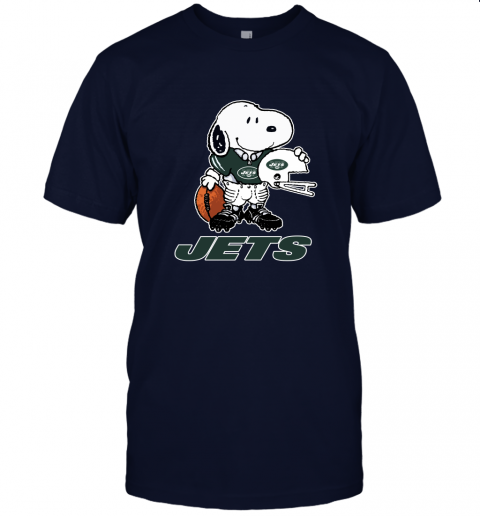 Snoopy A Strong And Proud New York Jets Player NFL Unisex Jersey Tee
