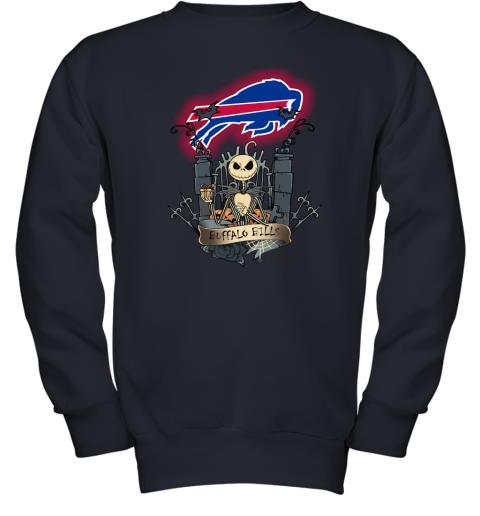 Buffalo Bills Jack Skellington This Is Halloween NFL Youth Sweatshirt