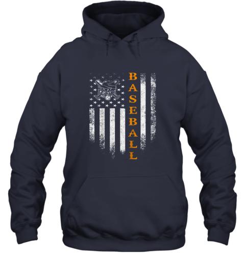 0keh vintage usa baseball distressed american flag patriotic gift hoodie 23 front navy