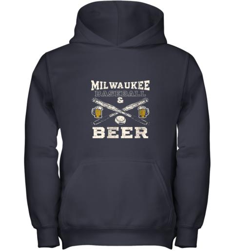 cpmk love milwaukee love baseball youth hoodie 43 front navy