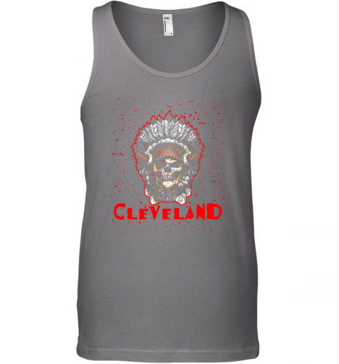 stoq cleveland hometown indian tribe vintage baseball fan awesome unisex tank 17 front graphite heather
