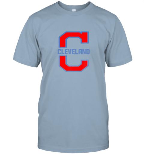 w5ik cleveland hometown indian tribe vintage jersey t shirt 60 front light blue
