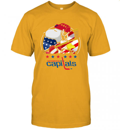 Washington Capitals Ice Hockey Snoopy And Woodstock NHL Unisex Jersey Tee