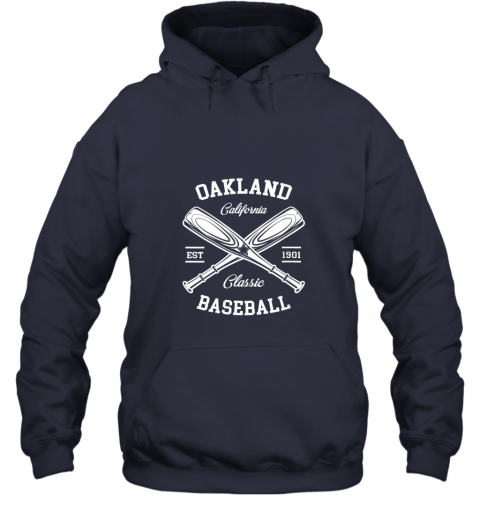 cyzm oakland baseball classic vintage california retro fans gift hoodie 23 front navy