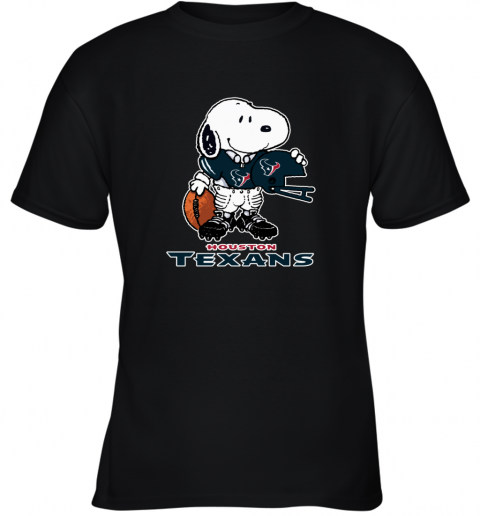 Snoopy  Strong And Proud Houston Texans Player NFL Youth T-Shirt