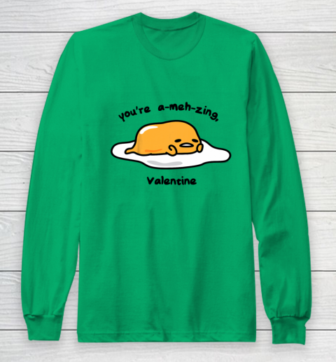 Gudetama the Lazy Egg A meh zing Valentine Long Sleeve T-Shirt 4