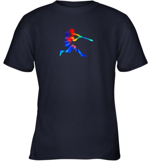 xwzm tie dye baseball batter shirt retro player coach boys gifts youth t shirt 26 front navy