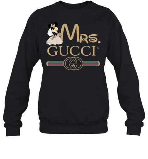 Gucci Disney Mrs Minnie Couple Valentine's Day Gift Adult Crewneck Sweatshirt