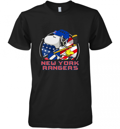 New York Ranger Ice Hockey Snoopy And Woodstock NHL Premium Men's T-Shirt