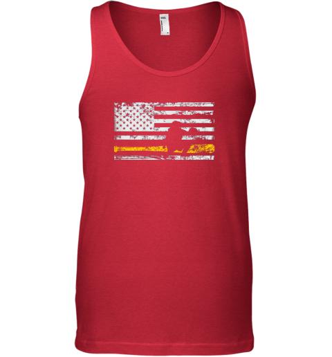 jkis softball catcher shirts baseball catcher american flag unisex tank 17 front red