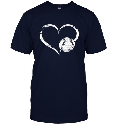 npdr i love baseballl funny baseball lover heartbeat jersey t shirt 60 front navy